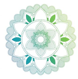 Mandala patterns on isolated background