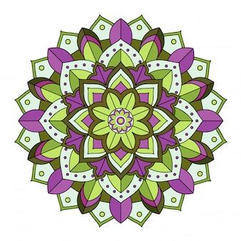 Mandala patterns on isolated