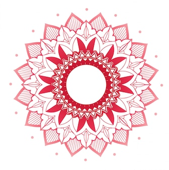 Mandala patterns on isolated