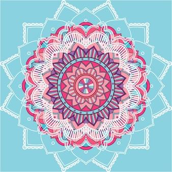 青い背景の曼荼羅パターン