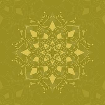 Мандала узоры на зеленом
