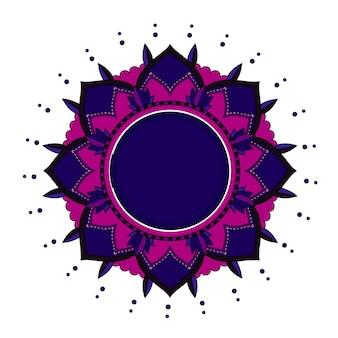 孤立した背景の曼荼羅パターン