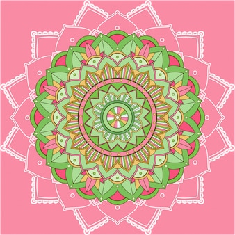 Мандала узоры на розовом фоне