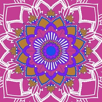 ピンクの背景に曼荼羅パターン