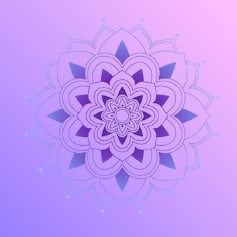 紫の背景に曼荼羅パターン