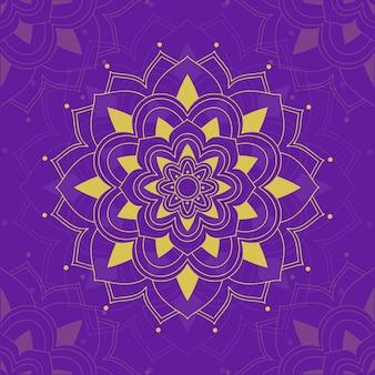 Мандала узоры на фиолетовом