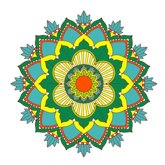 白い背景の曼荼羅パターン