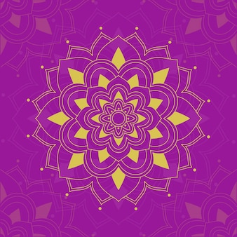 Mandala patterns on pink background