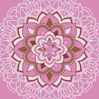Modelli di mandala su sfondo rosa