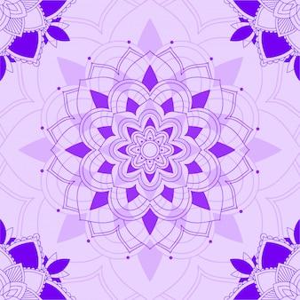 Mandala patterns on purple background