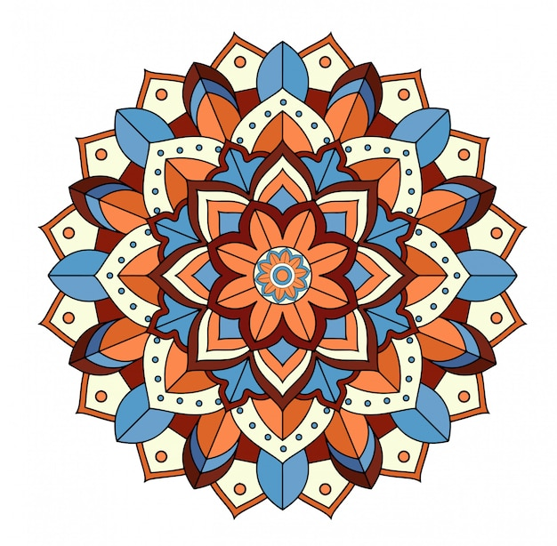 Mandala patterns on white
