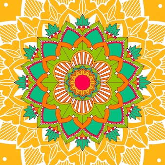 Mandala patterns on yellow