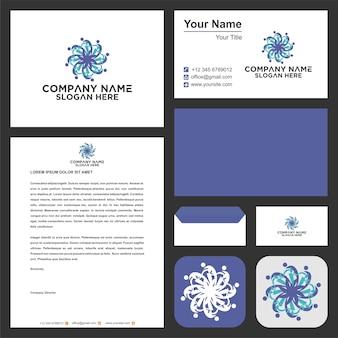 Мандала люди логотип и визитная карточка