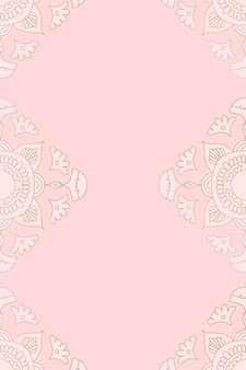 Мандала розовый фон
