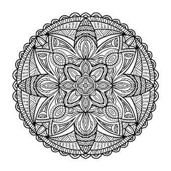 Mandala for printing. tribal ornament.