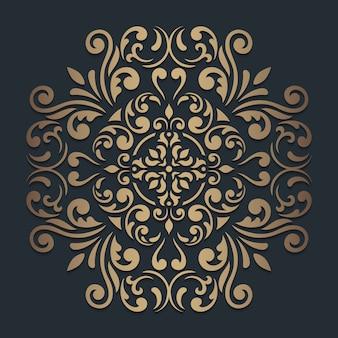 Мандала круглый орнамент на темноте