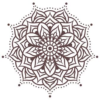 Мандала круглый узор орнамента. орнамент в восточном стиле. винтажные декоративные элементы