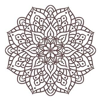 만다라 라운드 장식 패턴입니다. 동양 스타일의 장식 패턴입니다. 빈티지 장식 요소