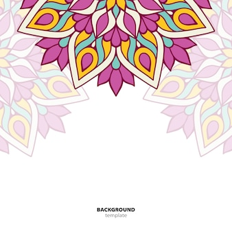 Мандала. круглый орнамент. этническое восточное происхождение