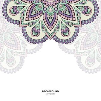 Mandala. round ornament pattern. ethnic oriental background