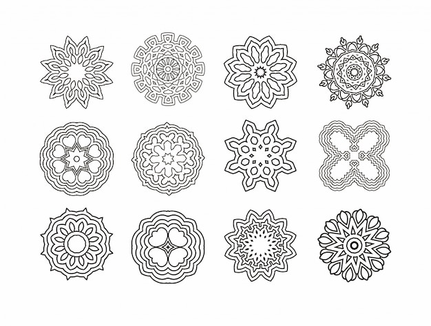 Mandala round ornament. vintage decorative elements