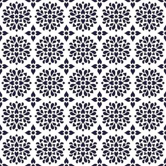 만다라 원활한 패턴 배경입니다. 당초 꽃 장식 벽지. 우아한 에스닉 클래식 바틱 모티브