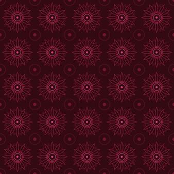 Mandala seamless pattern background. arabesque wallpaper. traditional elegant batik. classic motif