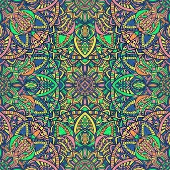Mandala seamless pattern background. tribal ornament.