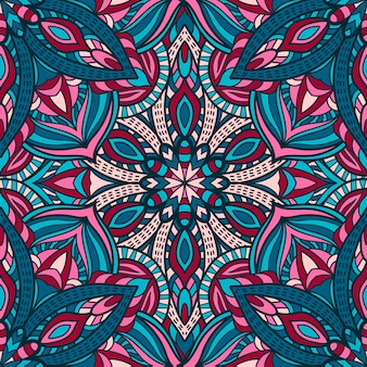 Mandala seamless pattern design for printing. tribal ornament.