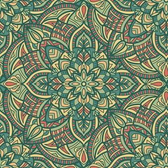 Mandala seamless pattern. tribal ornament.