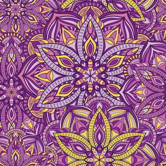 Mandala seamless pattern vector design for wallpaper. tribal ornament.