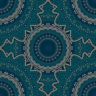 マンダラのシームレスなパターン。