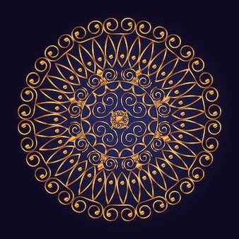 Mandala shape with luxury style and golden color