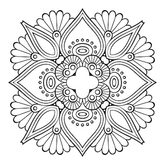 Mandala. simple line, decorative element for coloring.