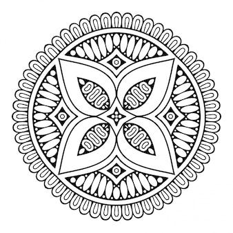 マンダラ。シンプルなライン、カラーリングのための装飾的な要素。