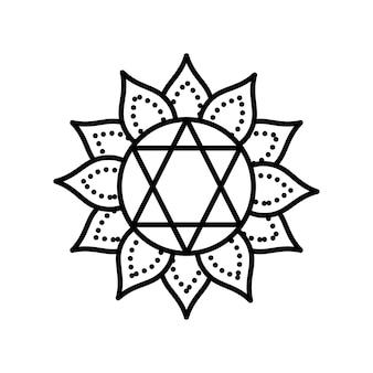 Mandala star flower
