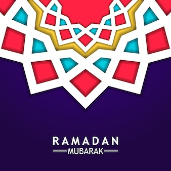 Mandala star geometrical background ramdan mubarak