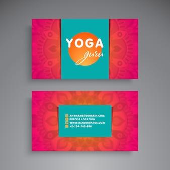Mandala style business card for yoga teacher