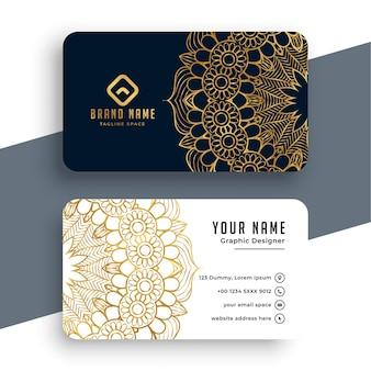 Mandala style premium business card template