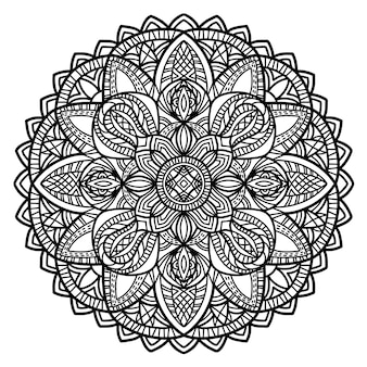 Mandala vector design for printing.
