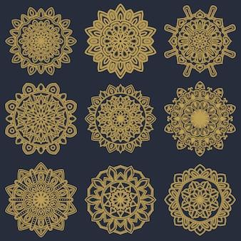 Mandala vector design set