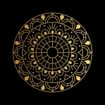 Mandala vector  in gloden gradient