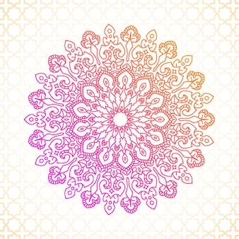 マンダラベクターグラフィックイスラム装飾