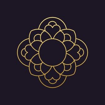 Mandala-vector logo/icon illustration