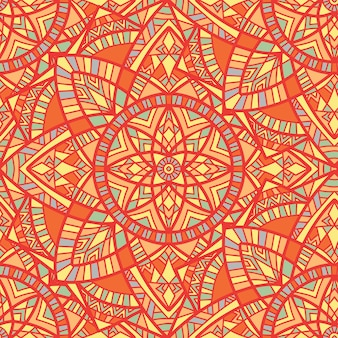 Mandala vector seamless pattern. tribal ornament.