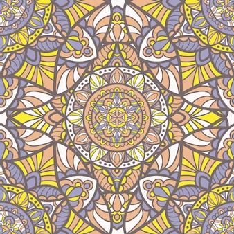 Mandala vector seamless pattern. tribal ornament.