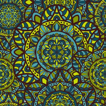 Mandala vector seamless pattern
