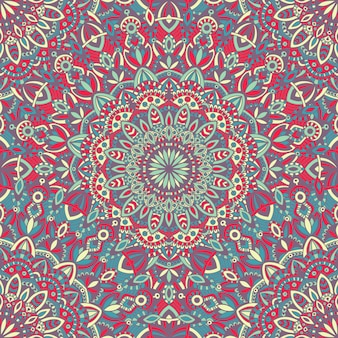 Mandala vector tribal vintage ethnic seamless pattern for print