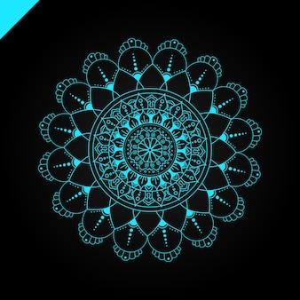 만다라. 빈티지 장식 요소. 손으로 그린 배경입니다. 이슬람, 아랍어, 인도, 오스만 모티브.
