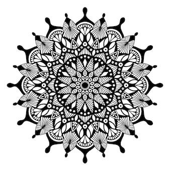 印刷用のマンダラヴィンテージデザイン。部族の飾り。